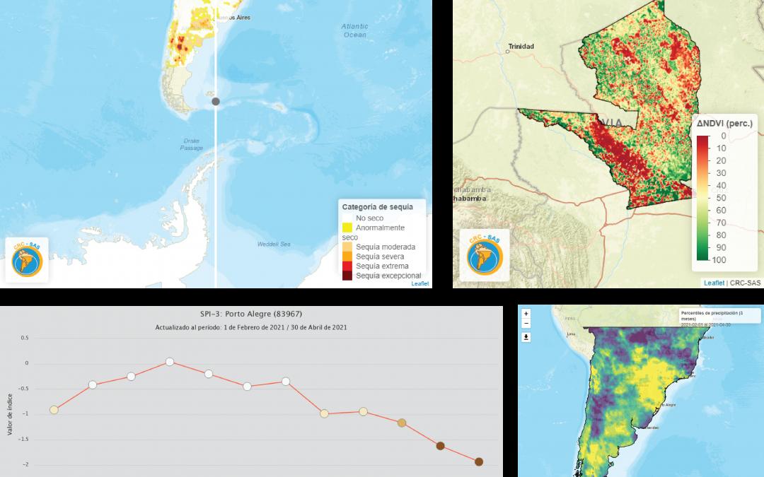 """Materiales del webinario «Exploración de productos de monitoreo de sequía desarrollados por el SISSA""""."""