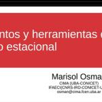 """Webinario sobre """"Fundamentos y herramientas del pronóstico estacional"""""""